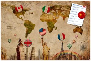 Magnettafel Weltreisen
